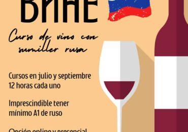 Curso de vino con sumiller rusa